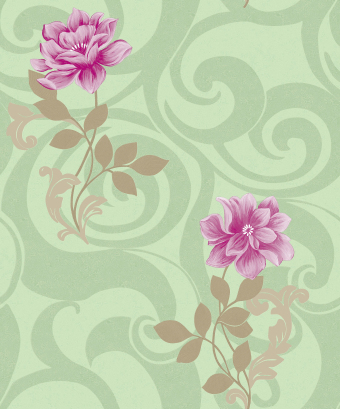 beautiful Chinese flower style wallcovering