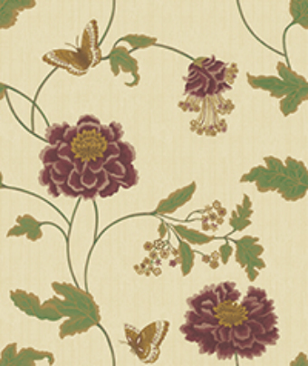 wallcovering with deep embossing for room decoration